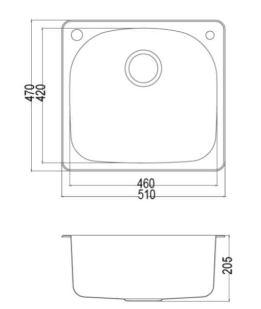 KS DN  Stainless Steel Kitchen Sink Specs
