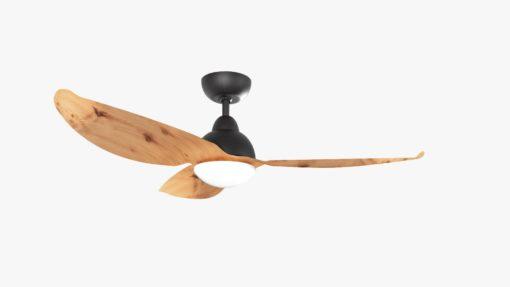 Alaska PC Aluminium Wood Colored Blades Ceiling Fan Black