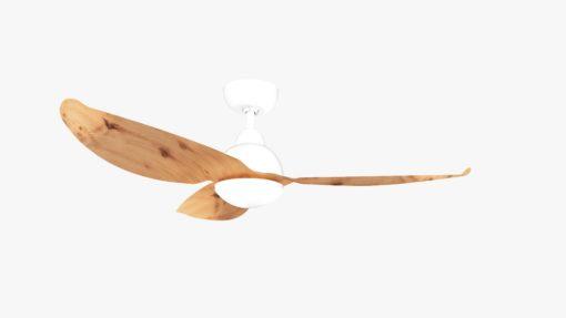 Alaska PC Aluminium Wood Colored Blades Ceiling Fan White