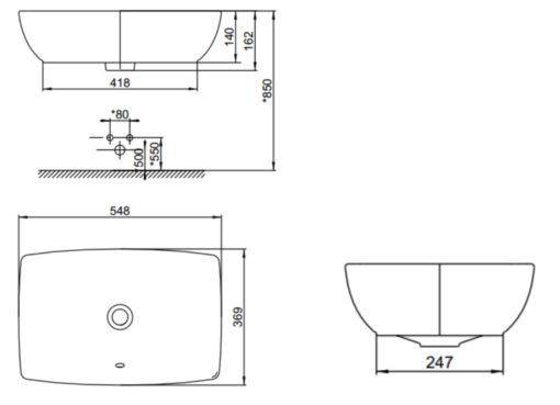 American-Standard-CCASF650-Vessel-Basin-Specs