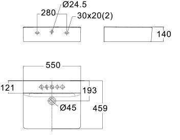 American Standard CL Wall Hung Basin Specs