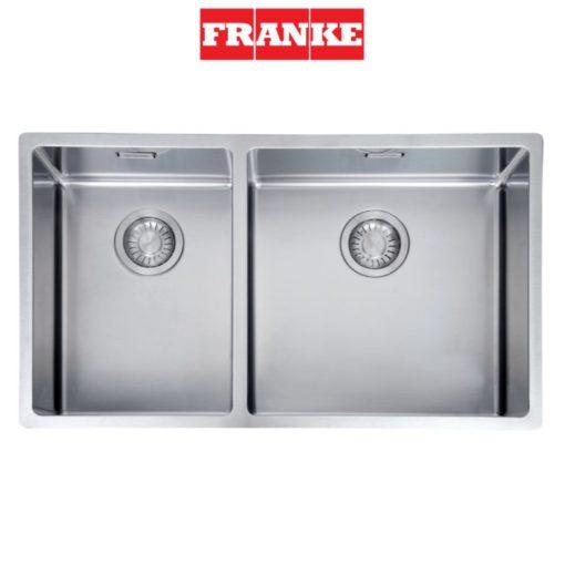 Franke-BOX220-74SBL-Double-Bowl-Sink