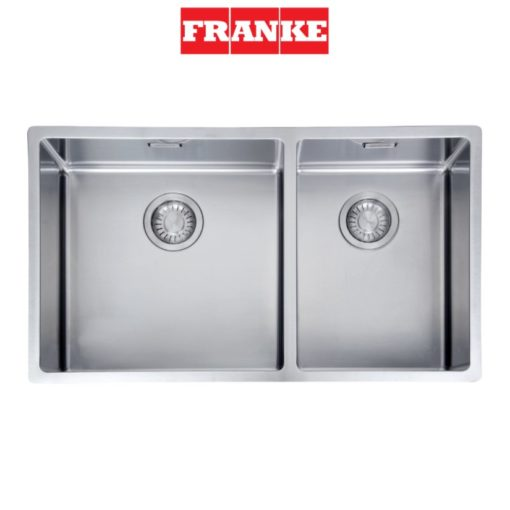 Franke-BOX220-74SBR-Double-Bowl-Sink