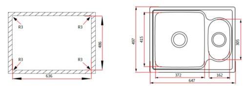 Rubine-ZEX850-Stainless-Steel-Sink-Specs