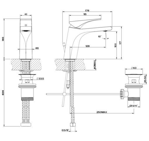 GESSI-49001-Basin-Mixer-Specs