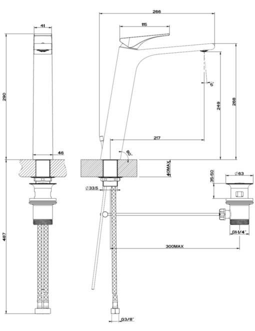 GESSI-49003-Basin-Mixer-Specs
