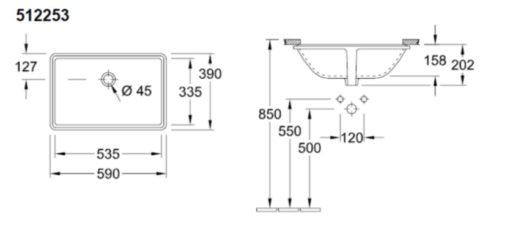 Villeroy-and-Boch-51225301-Undermount-Basin-Specs