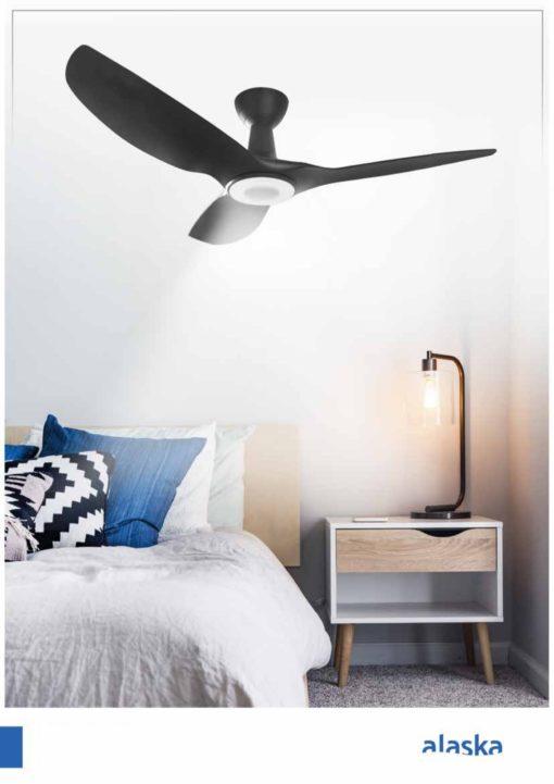 Alaska Hawk V Ceiling Fan black and white