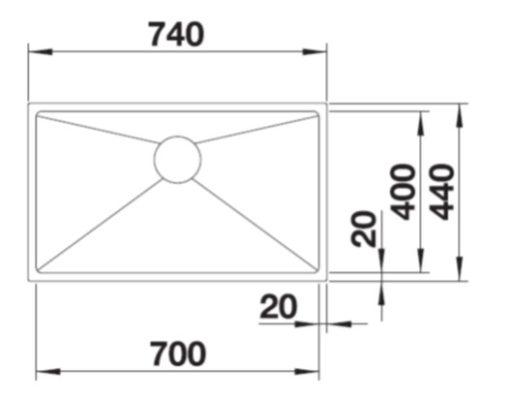 BLANCO-Quatrus-R15-700-IU-Undermount-Sink-Specs