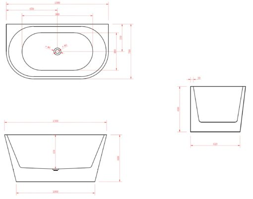 BT191-1300MM-Free-Standing-Bathtub-Specs