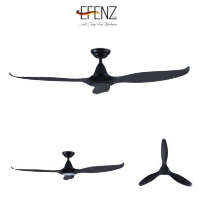 EFENZ Tiffany Black Ceiling Fan