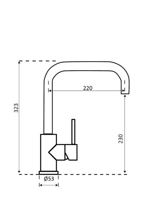 Reginox-Crystal-Sink-Mixer-Specs