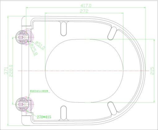 FS Toilet Seat Cover Specs