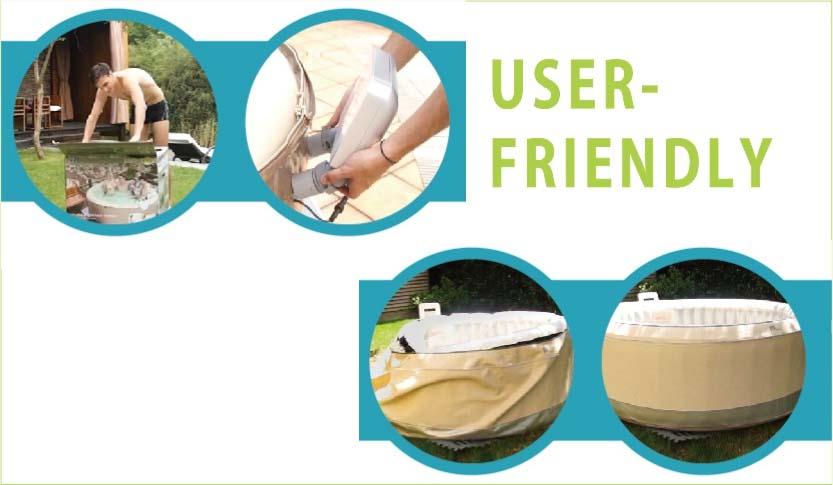 user friendly spa bathtub easy to setup install