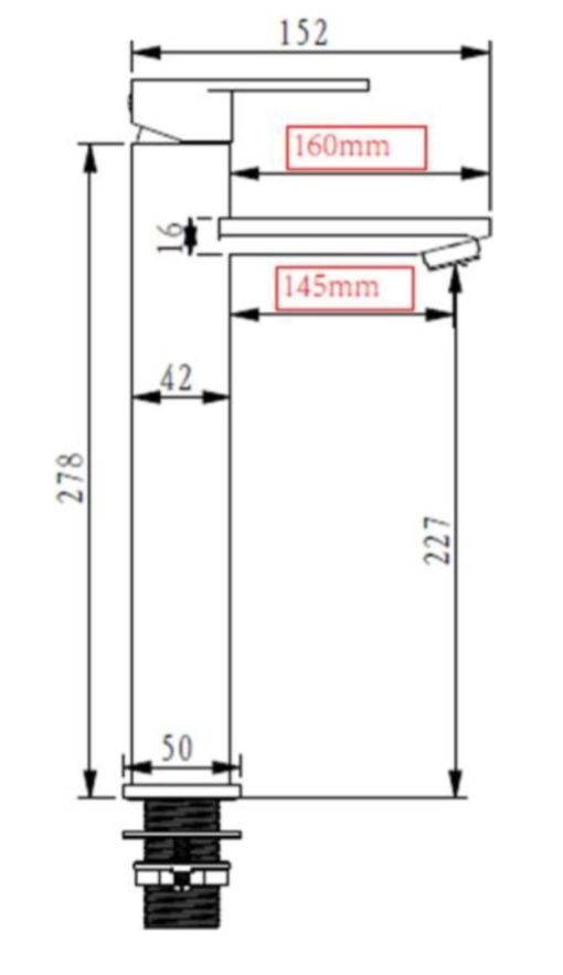 Boshsini BSBK Basin Mixer Specs