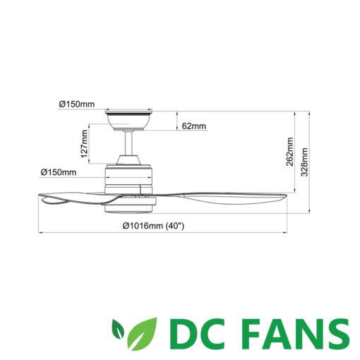 Acorn Intaglio DC  LED  INCH Measurement