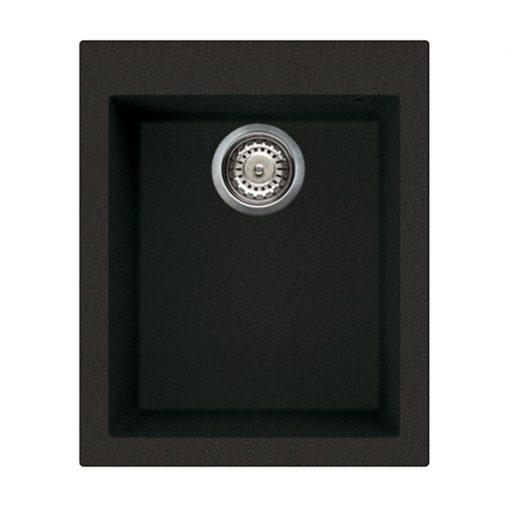 Rubine MEQ  Inset Granite Sink Pearl Black