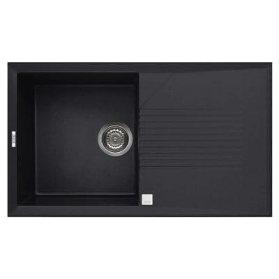 Rubine-MEQ811-Granite-Sink-Pearl-Black