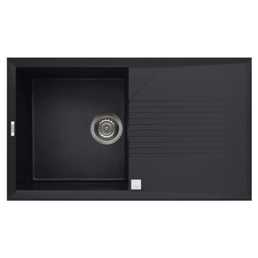 Rubine MEQ Granite Sink Pearl Black