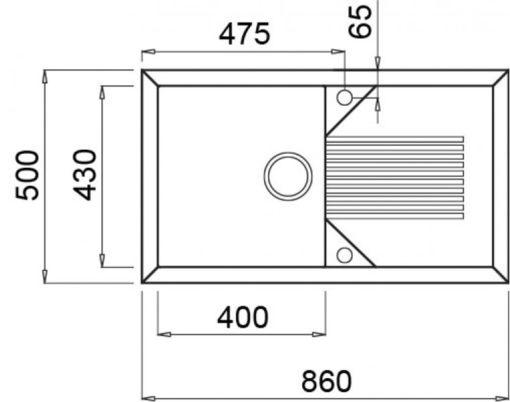 Rubine MEQ Granite Sink Specs