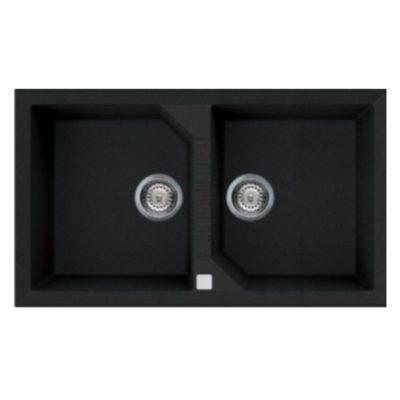 Rubine-MEQ820-Granite-Sink-Pearl-Black