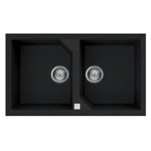 Rubine MEQ Granite Sink Pearl Black