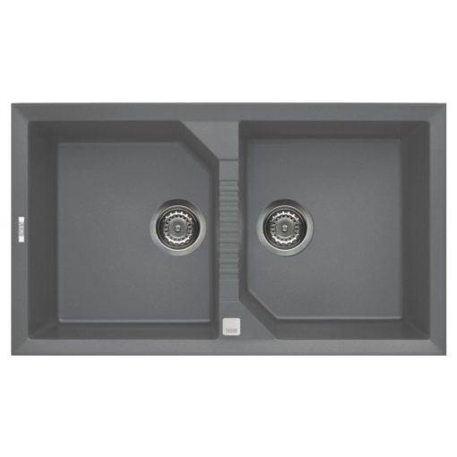 Rubine-MEQ820-Granite-Sink-Titanium-Silver