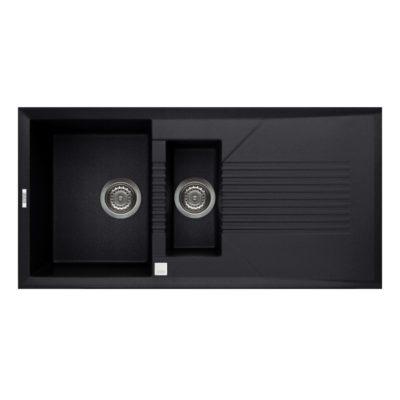 Rubine-MEQ851-Granite-Sink-Pearl-Black