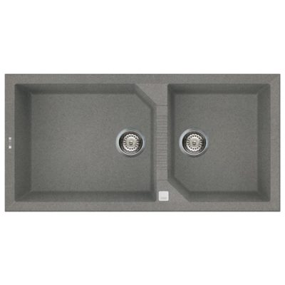 Rubine-MEQ860-100-Granite-Sink-Titanium-Silver