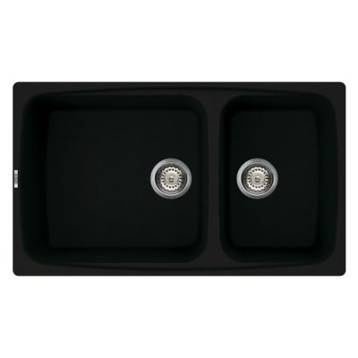 Rubine-MEQ860-86-Granite-Sink-Pearl-Black