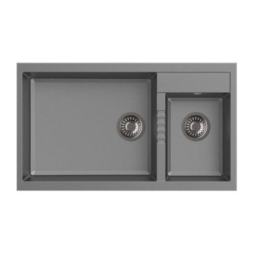 Rubine MEQ L Granite Sink Titanium Silver