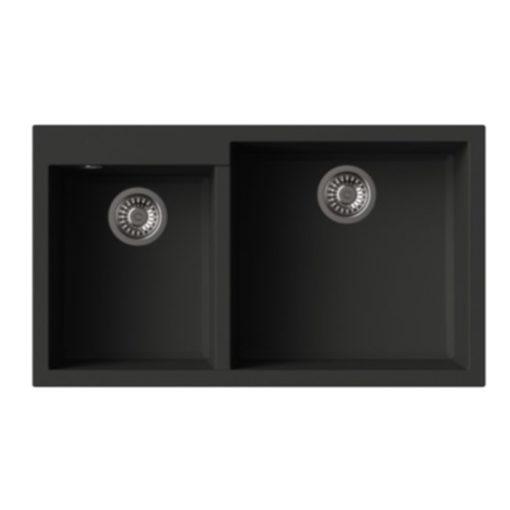 Rubine-MEQ860-86R-Granite-Sink-Pearl-Black