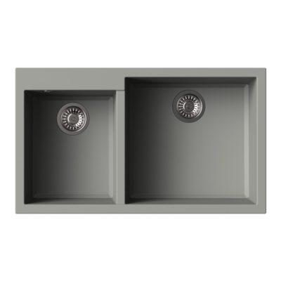 Rubine-MEQ860-86R-Granite-Sink-Titanium-Silver