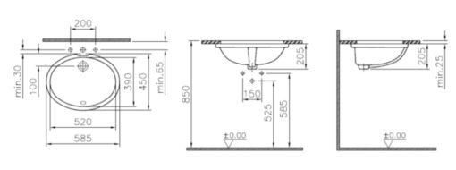 Vitra-6069B-Oval-Undercounter-Basin-Specs