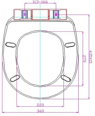 S+PD PP Toilet Seat Cover Specs