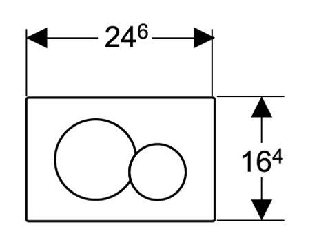 Geberit Sigma  Flush Actuator Specs