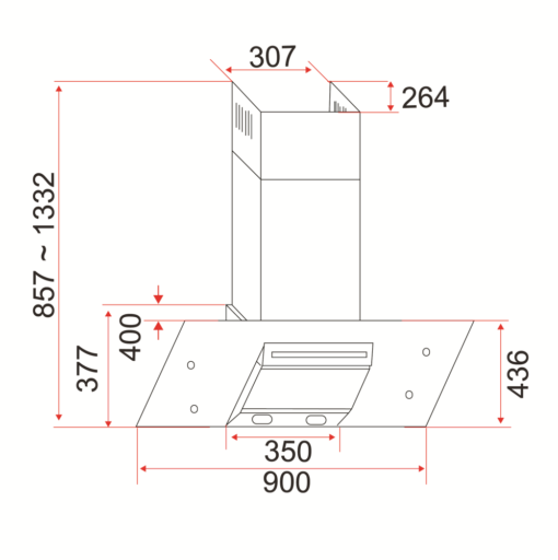 EF CH AG A Wall Mounted Hood specs
