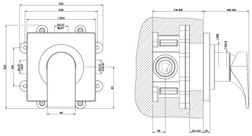 Gessi-38312-49106-Via-Solferino-Concealed-Shower-Mixer-Specs