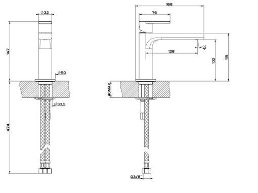 Gessi-38605-Via-Manzoni-Basin-Mixer-Specs