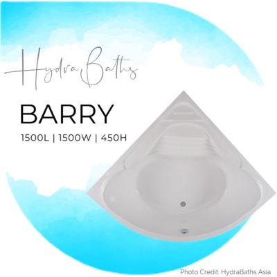 BARRY Built in Bathtub