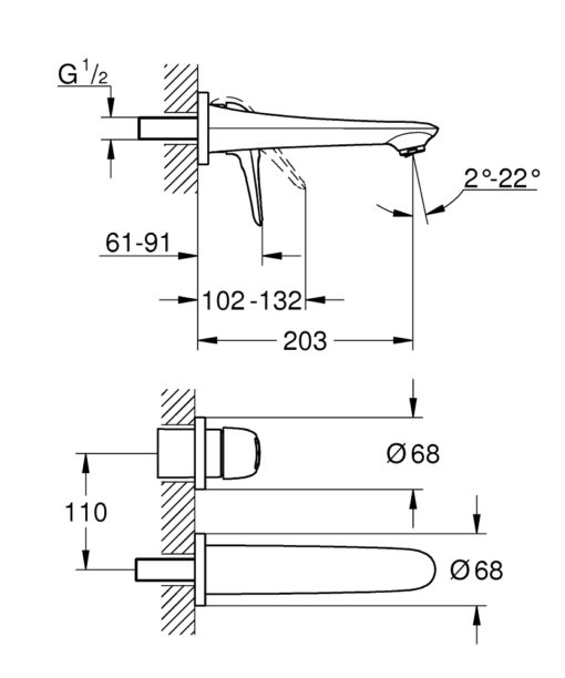 Grohe LS Basin Mixer Specs