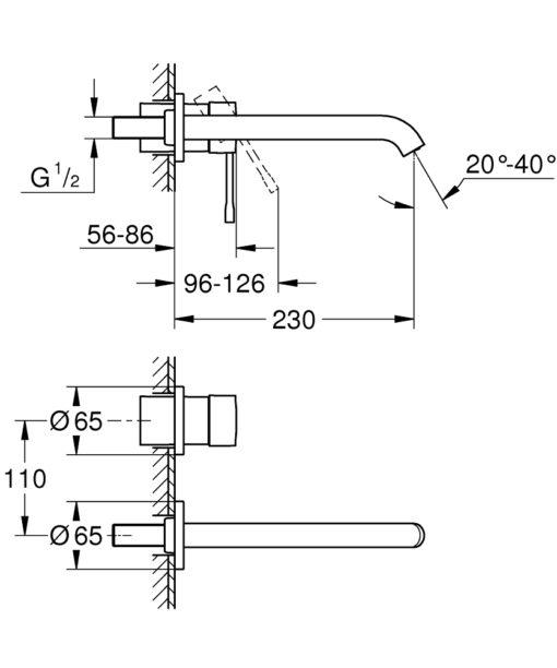 Grohe EN Basin Mixer Specs