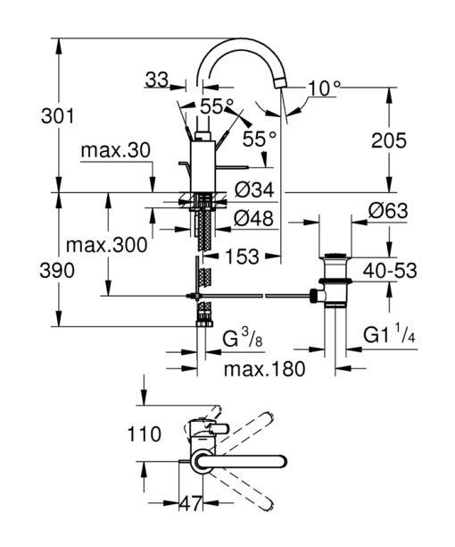 Grohe  Basin Mixer Specs