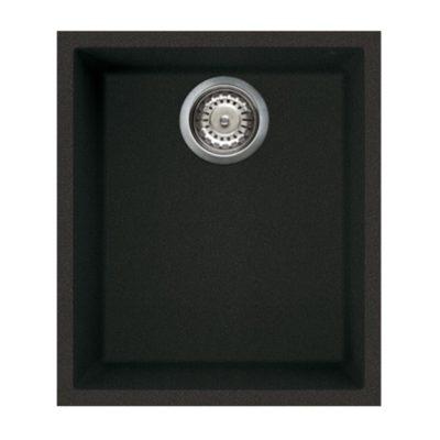 Rubine MEQ U Undermount Granite Sink Pearl Black