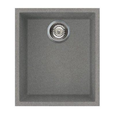 Rubine MEQ U Undermount Granite Sink Titanium Silver