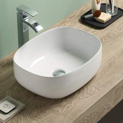D Overtop Ceramic Basin