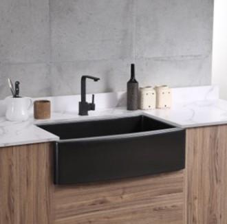 APRON833558-BLACK-Granite-Sink